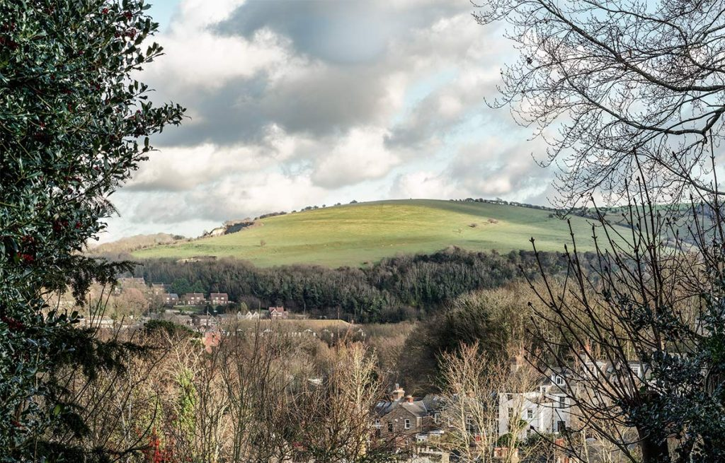 View of Malling Down from Lewes, East Sussex