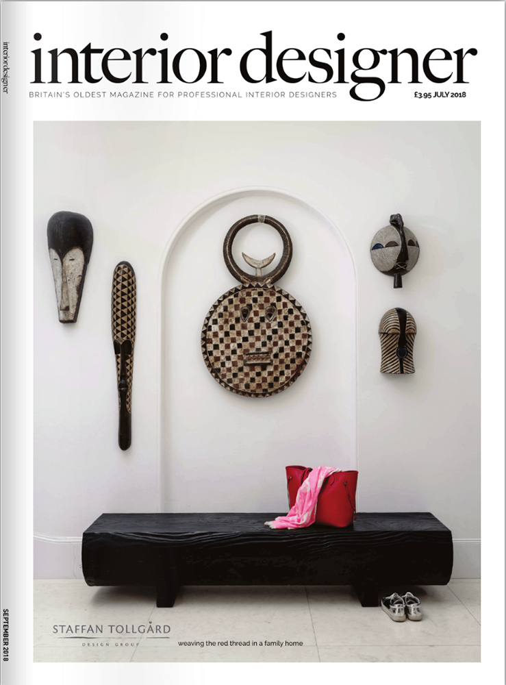 Front Cover Photography. Interior Designer Magazine
