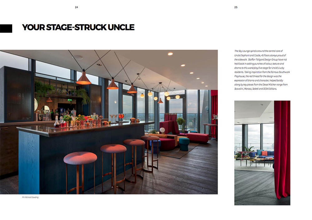A Staffan Tollgard Interior Design for Uncle's Elephant and Castle Sky Lounge bar