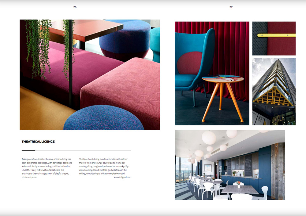 A Staffan Tollgard Interior Design. Detail and external shots of Uncle Living's Elephant and Castle building