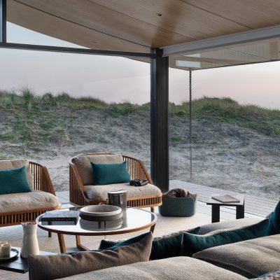 Summer House on Fanø, Denmark. Interior design by Tollgård Design Group. Architect, Knud Holscher