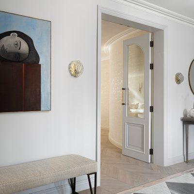 Entrance Hall, Mayfair Luxury Apartment. Rebecca James Studio